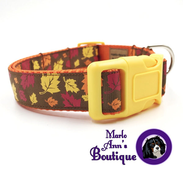 Falling Leaves Dog Collar
