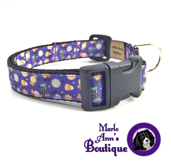 Halloween Candy Dog Collar