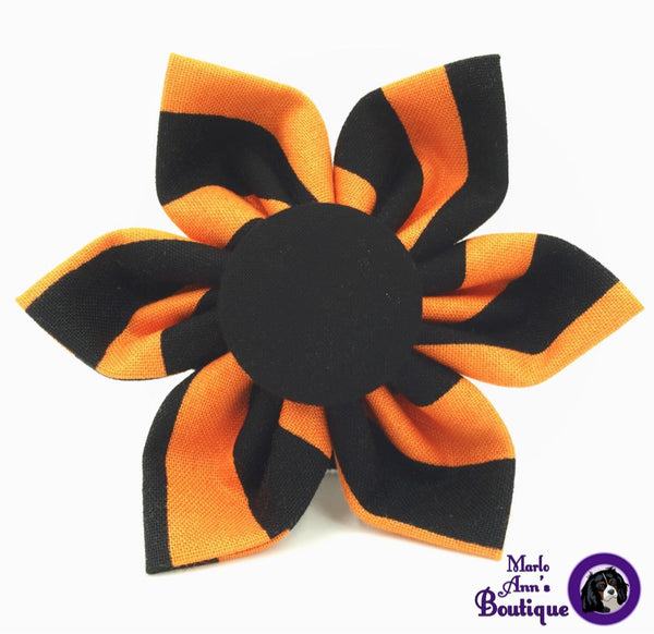 Halloween Stripes Flower
