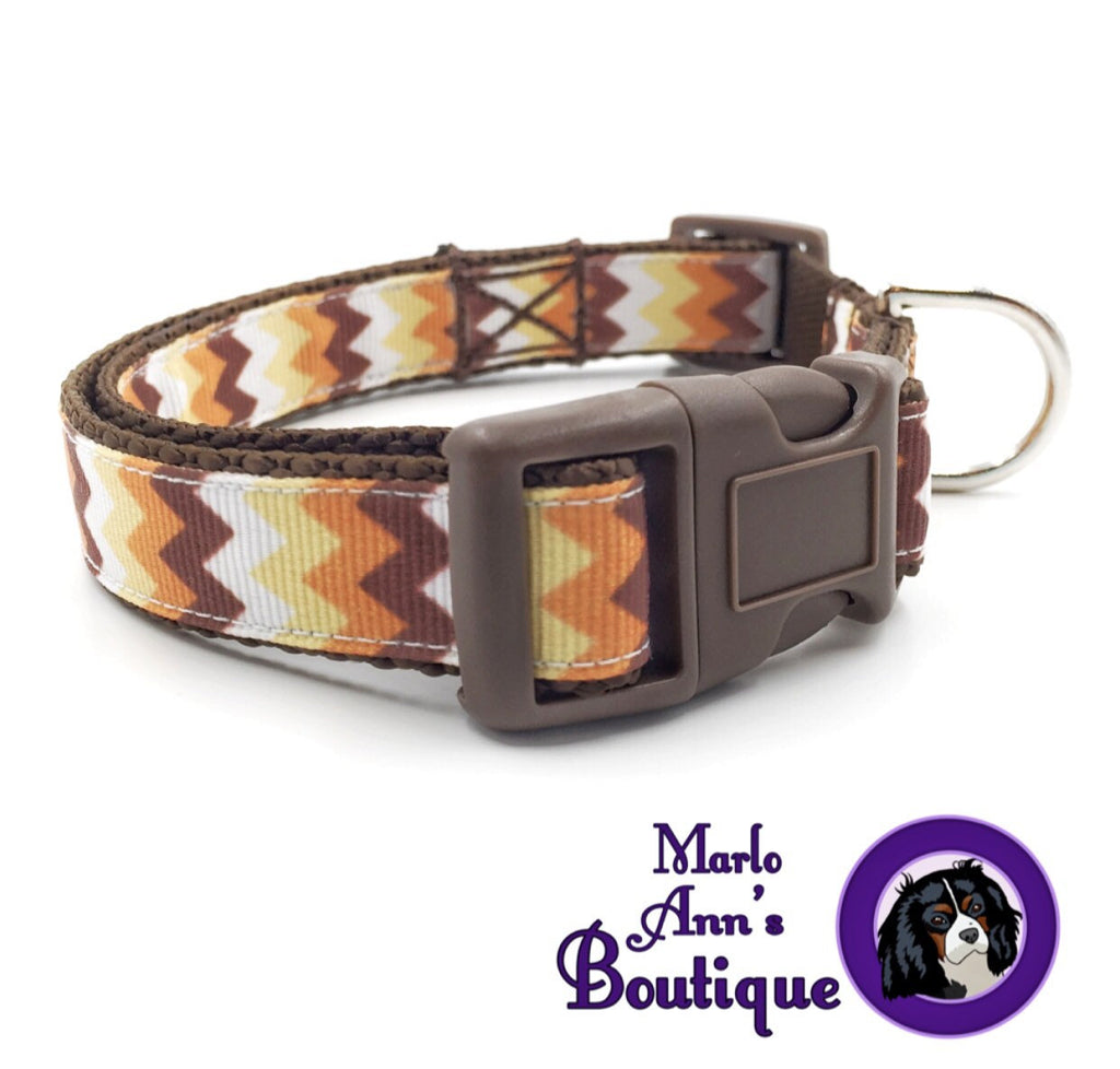 Autumn Chevron Dog Collar