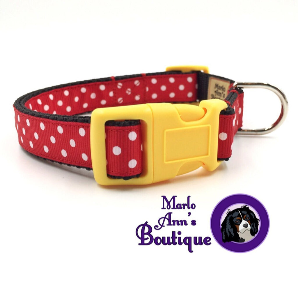 Mickey / Minnie Mouse Dog Collar
