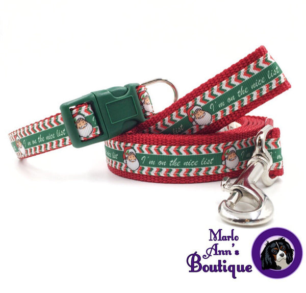 Santa's Nice List Dog Collar