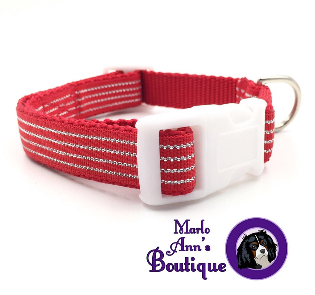 Christmas Candy Cane Dog Collar