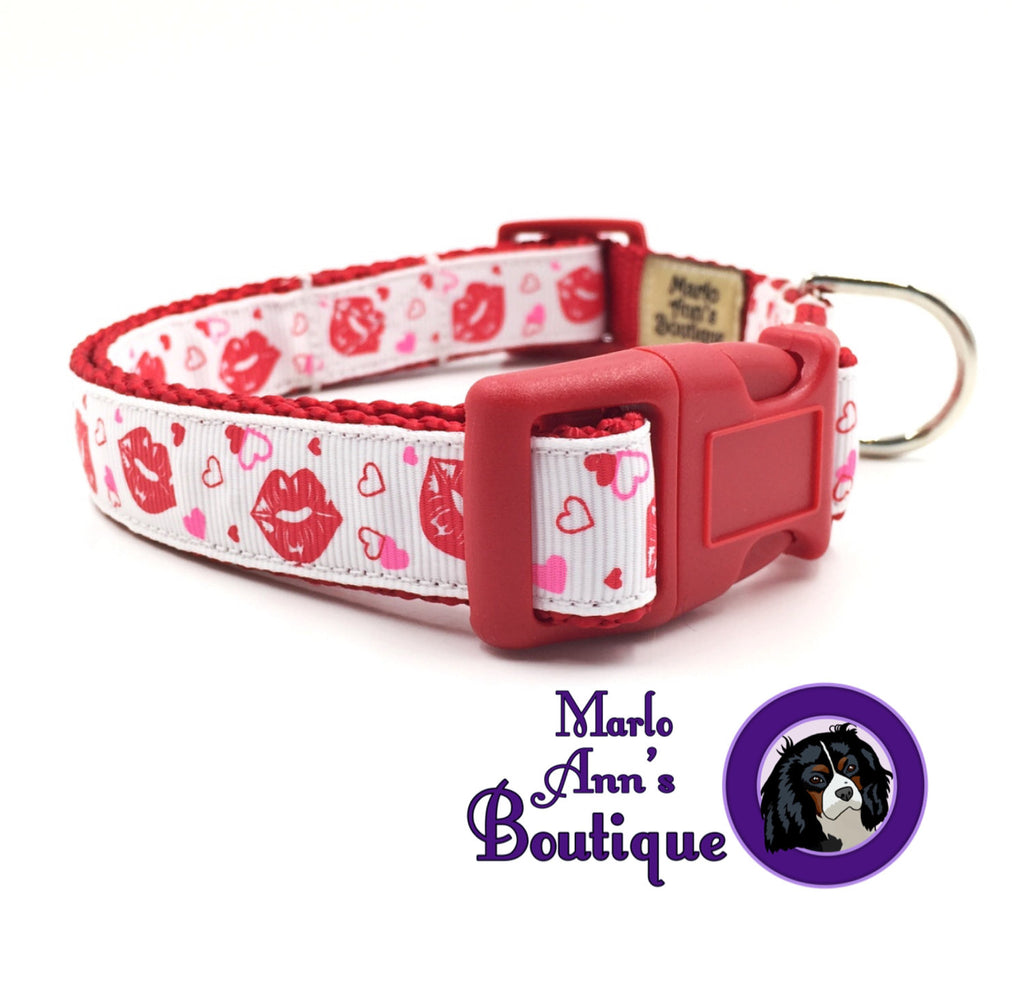 Sealed with a Kiss Dog Collar