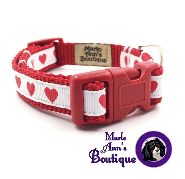 XS / Puppy Simple Hearts Dog Collar