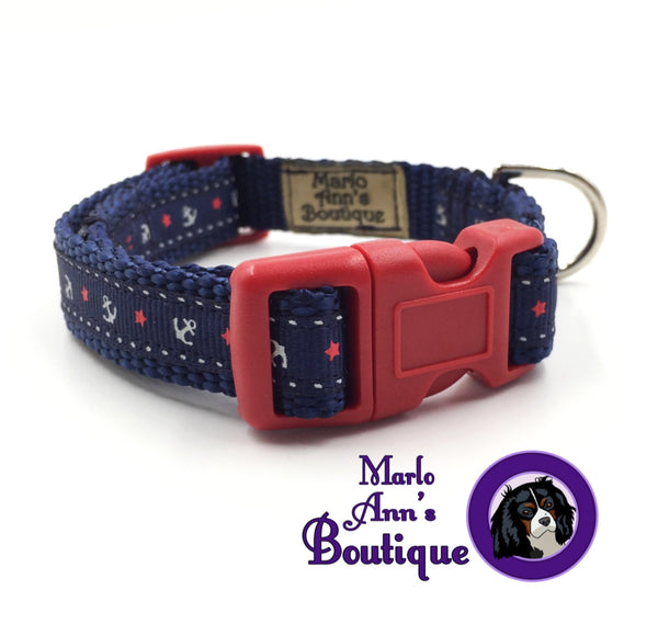 XS / Puppy Come Sail Away Dog Collar