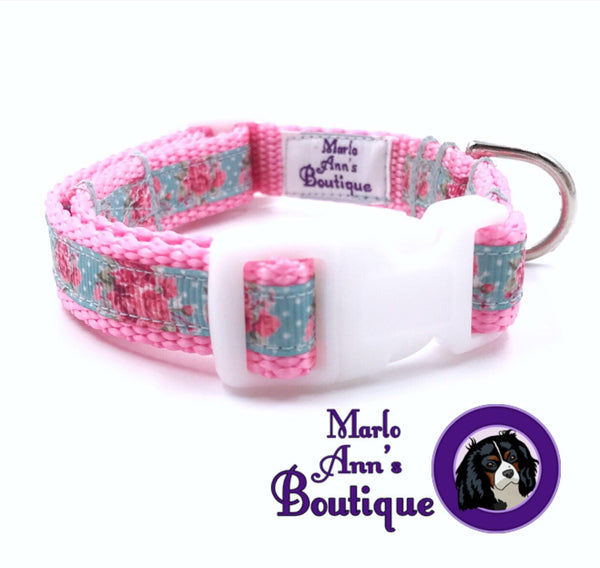 XS / Puppy Rose Garden Dog Collar