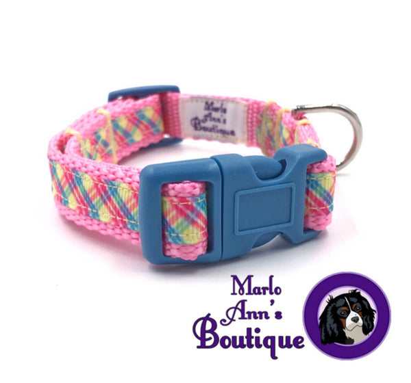 XS / Puppy Spring Plaid Dog Collar