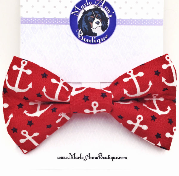 Patriotic Anchor Bow Tie