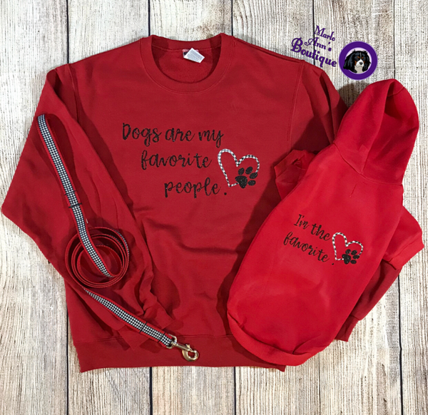 Dogs Are My Favorite People Parent Fleece Crew Sweatshirt