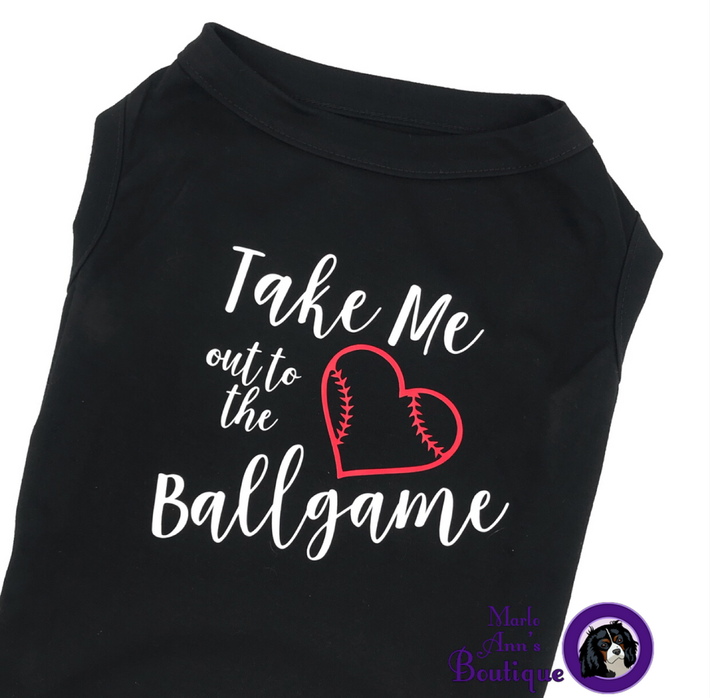 Take Me Out To The Ballgame Pup Tee