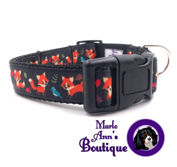 Fox Friends Dog Collar