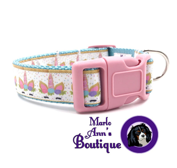 Pastel Unicorn Dog Collar