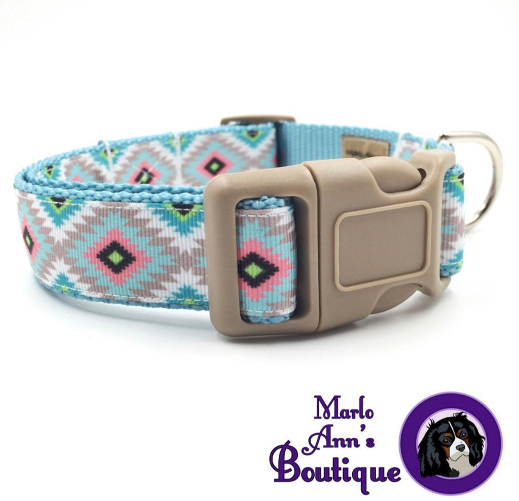 Pastel Tribal Dog Collar