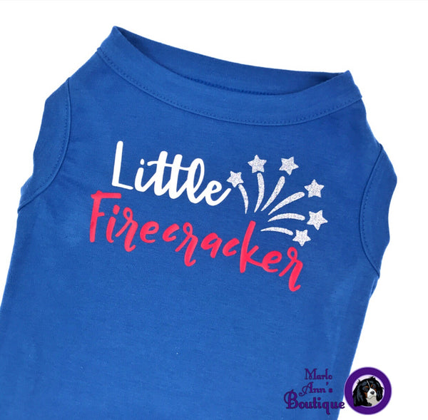 Little Firecracker Pup Tee