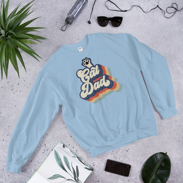 Retro Cat Dad Sweatshirt