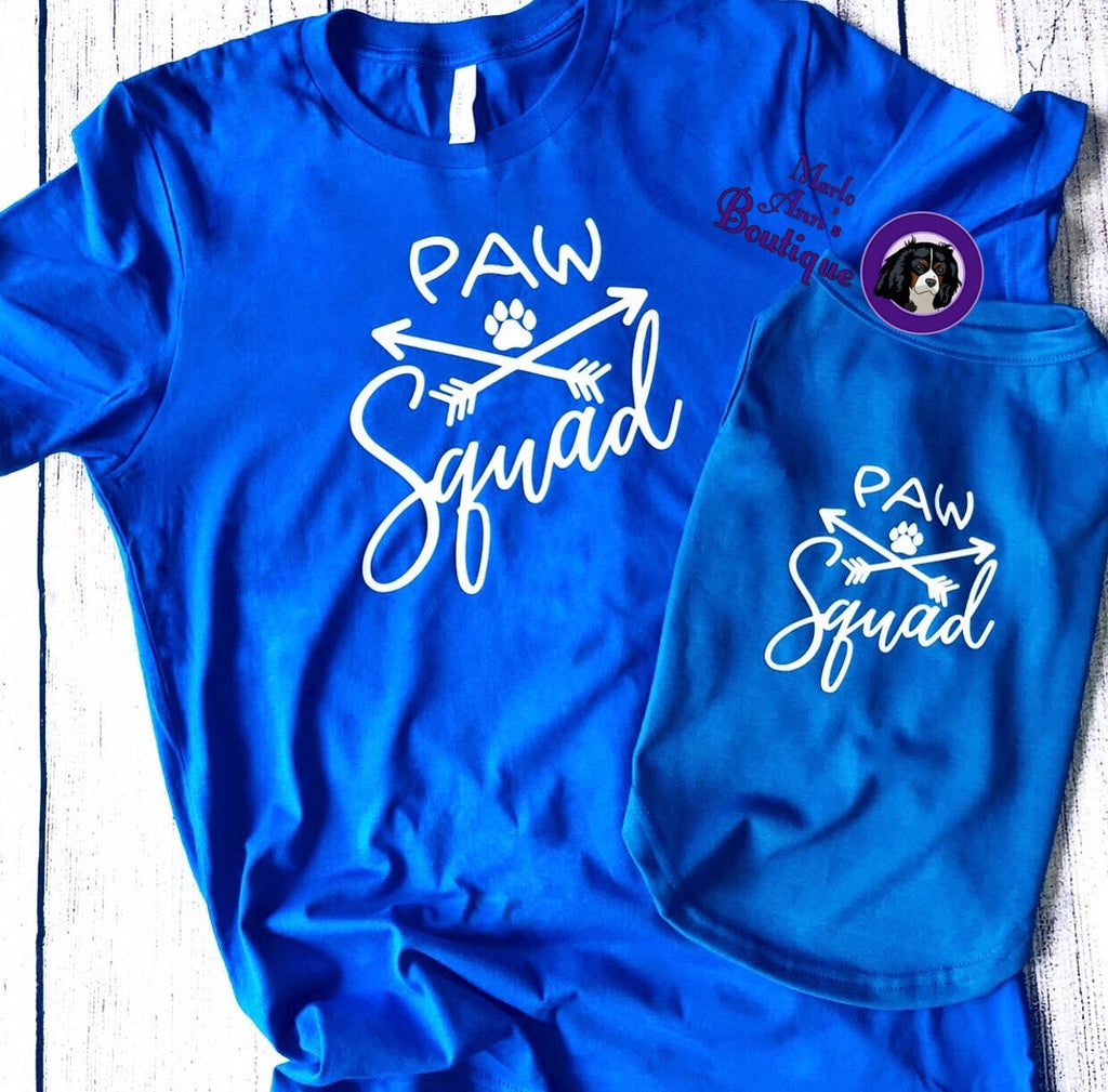 Paw Squad Matching Tees