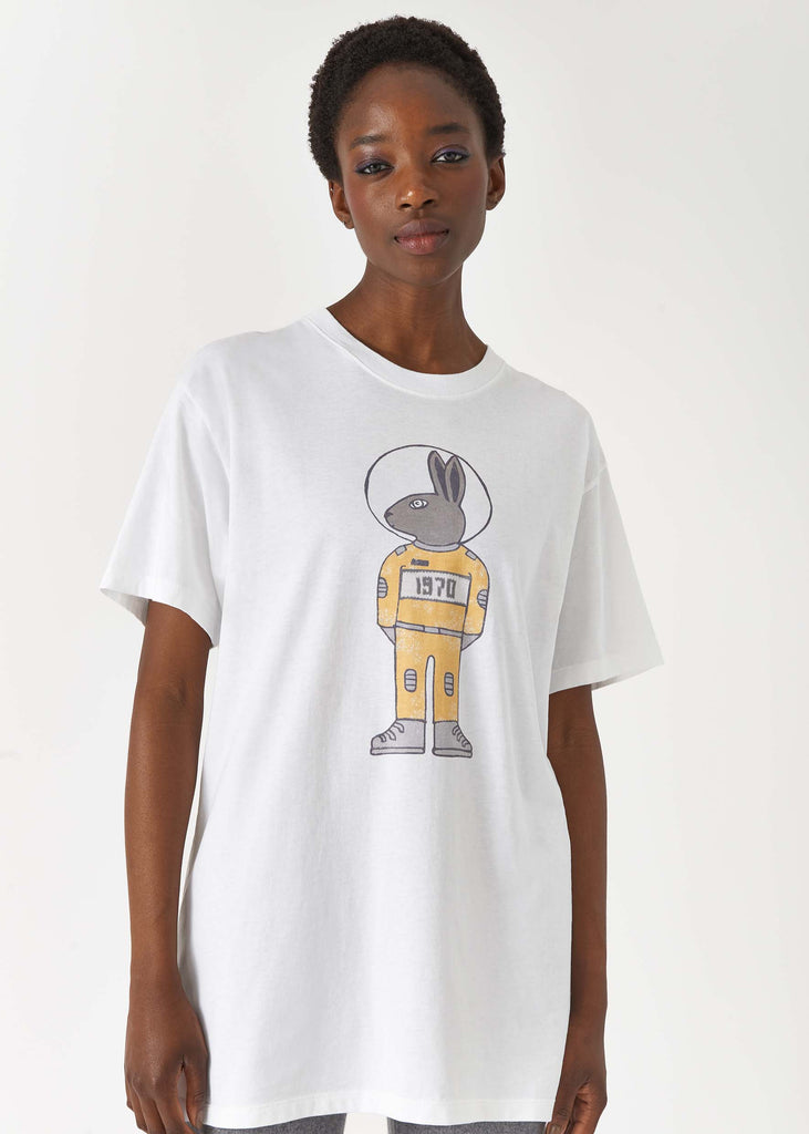 Mythical Bunny Oversized White T-Shirt by BELLA FREUD