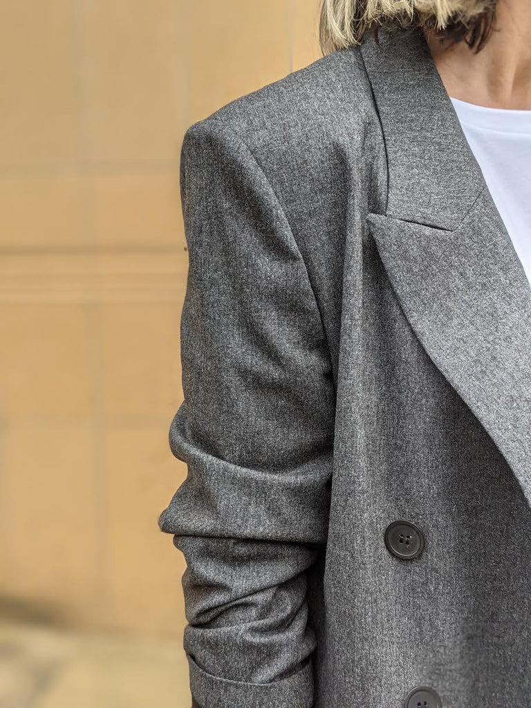 Noleagan Anthracite Double-Breasted Blazer by ISABEL MARANT ETOILE