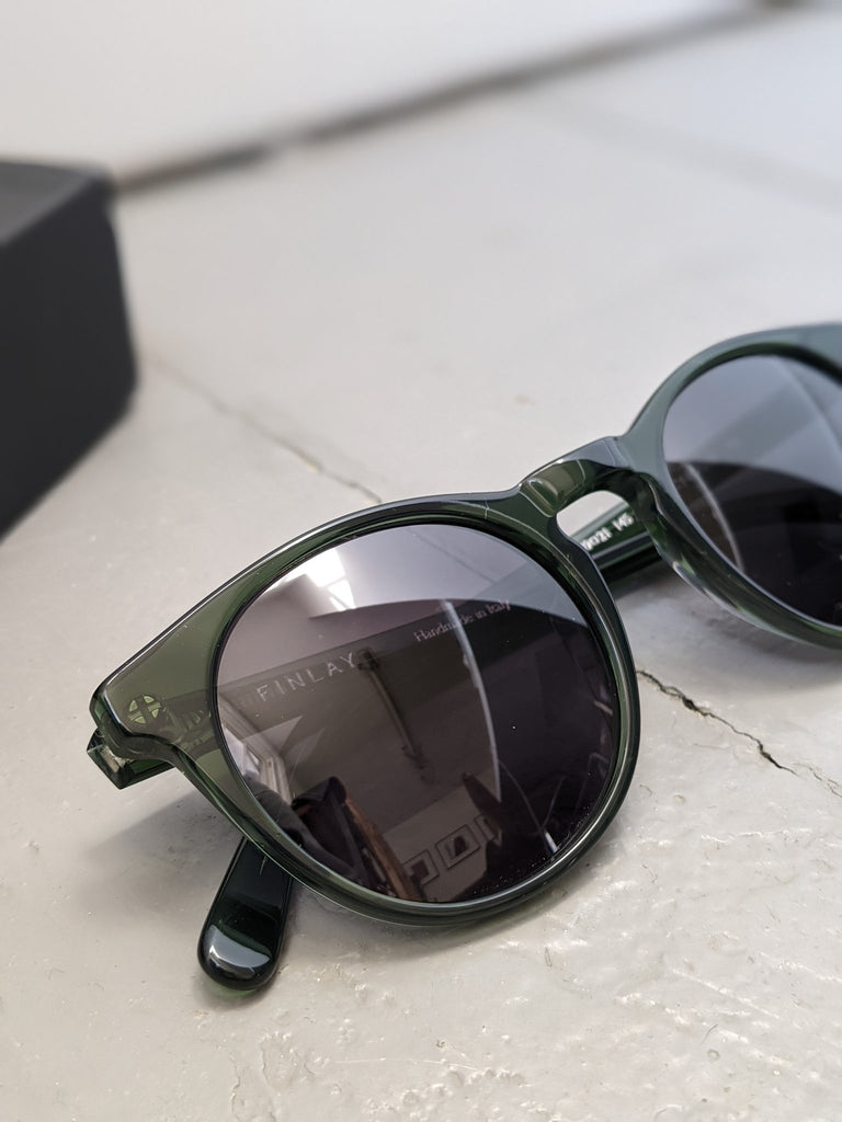 Percy Forest Green with Grey Lens Sunglasses FINLAY LONDON