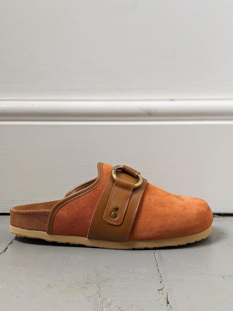 SEE BY CHLOE Gema Copper Suede Loafers