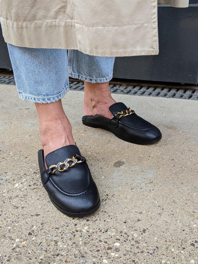SEE BY CHLOE Mahe Black Leather Loafers