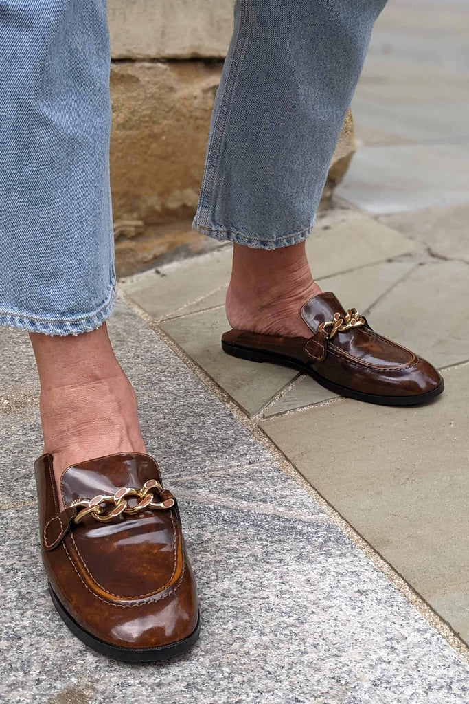 SEE BY CHLOE Mahe Caramel Patent Loafers