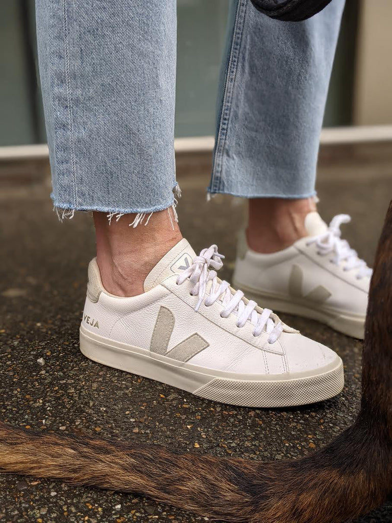 VEJA Campo White & Natural Sneakers