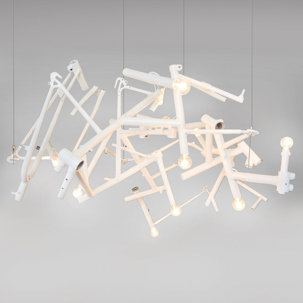Bicycle Chandelier - Round
