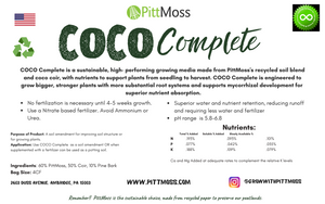 PittMoss COCO Complete - New and Improved PittMoss + Coir Soilless Blend