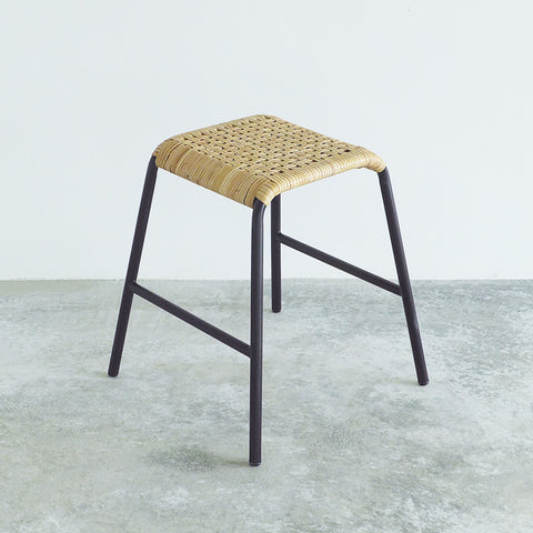 Checker Stool (Rattan)
