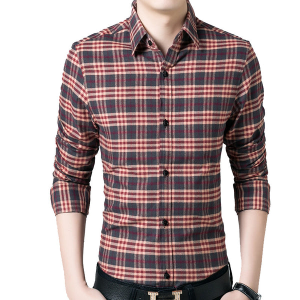 Casual Mens Shirt available in 2 colors blue/red