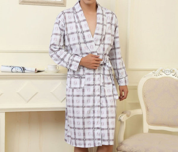 Robe Long Sleeved 100% Cotton available 2 colors