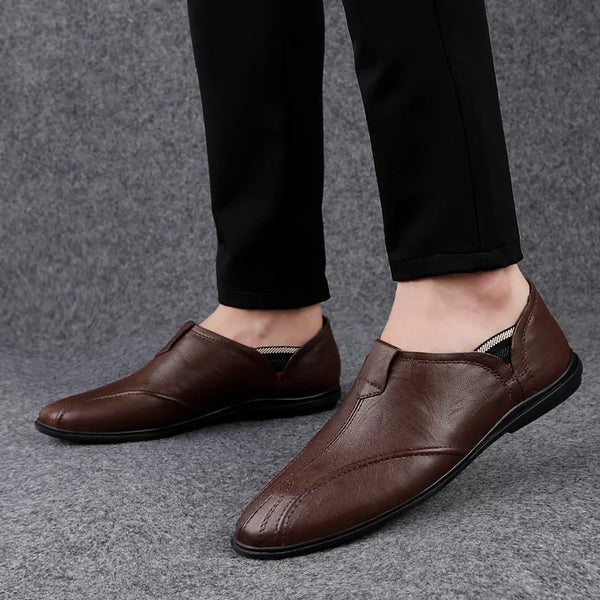 Genuine leather casual shoes (3 colors)