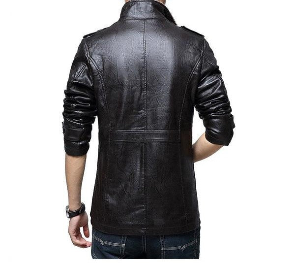 Leather Jacket available 3 colors black/khaki/brown