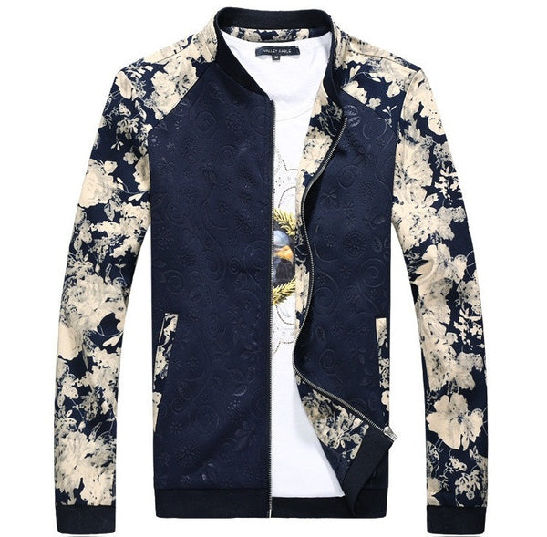 Mens Jacket Floral available 2 colors black/blue