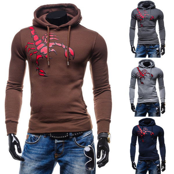 Hoodie available 4 colors navy/brown/light gray/dark gray