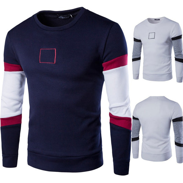 Sweatshirt Slim Sports available 2 colors navy blue/white