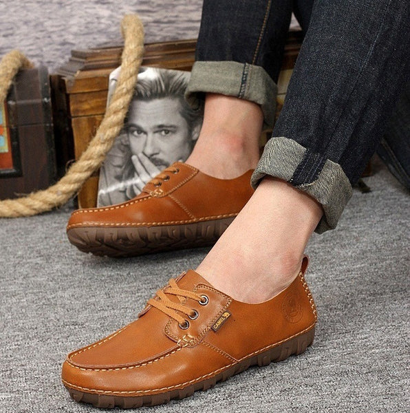 Leather Shoes available 2 colors light brown/dark brown