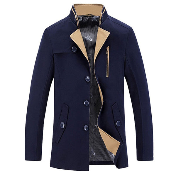 Men's Jacket/Coat Autumn Winter available 2 colors Khaki/ Blue