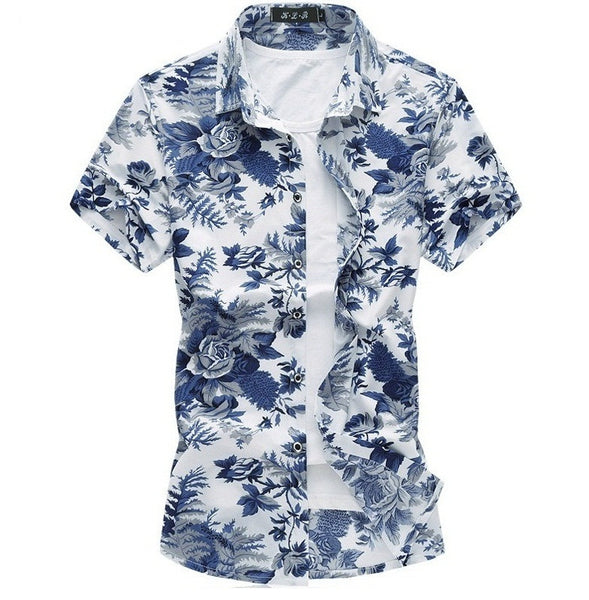 Hawaiian shirt Summer Breathable thin