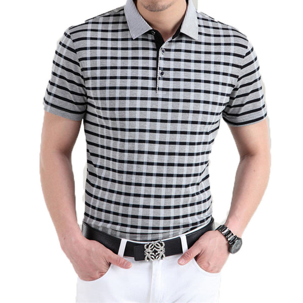 Striped Polo shirt short sleeve available 3 colors