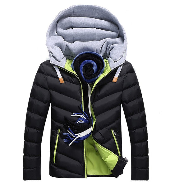 Winter  Men's Jackets  Casual Hooded 3 colors