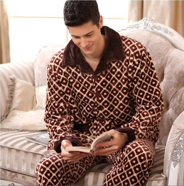 Modern Full Plaid High Quality Pajamas