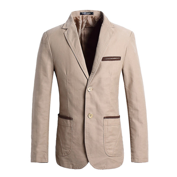 blazer available 3 colors navy blue/khaki/brown