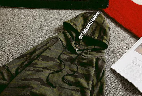 men's camouflage sweatshirt 2 colors