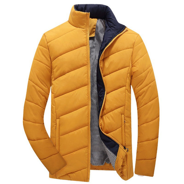 Winter Mens Jacket available in 5 colors Black/ Yellow/ Red/ Dark green/ Dark blue