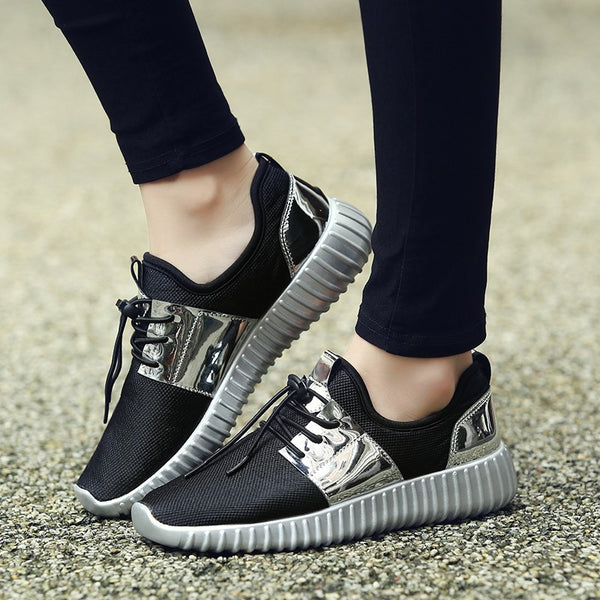 Casual Shoes Summer Fashion available 3 colors  black/silver/golden