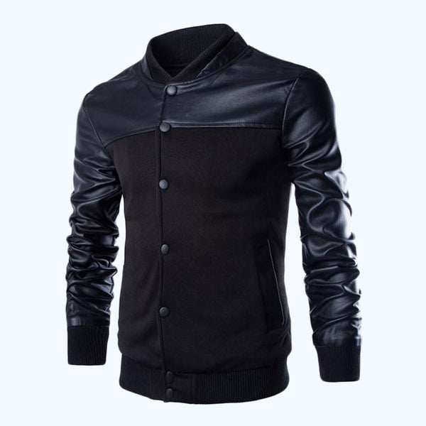 leather jacket available 2 colors black/gray