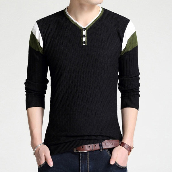 mens slim sweater